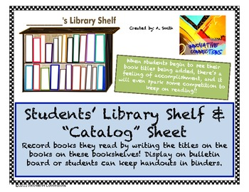 library bookshelf record sheets for students free printables by ann