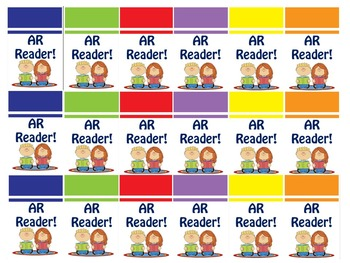 Library Brag Tags - Set #2 AR (Accelerated Reader)