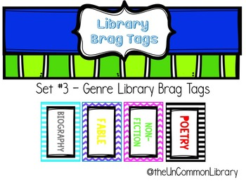 Library Brag Tags - Set #3 Genres