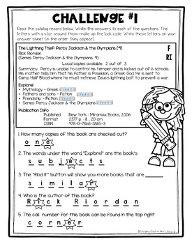 Library Breakout - Library Catalog Review