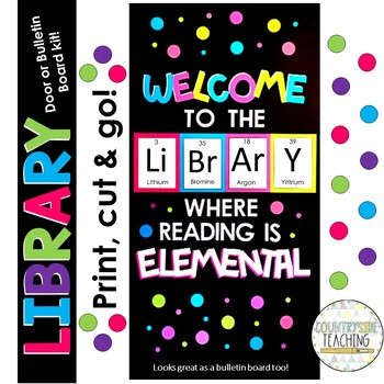 Library Bulletin Board / Library Classroom Door Decor / Welcome to the Library