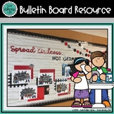 Library Bulletin Board | Spread Kindness Not Germs | Healt