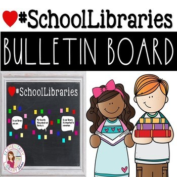 Library Bulletin Board Template GROWING BUNDLE