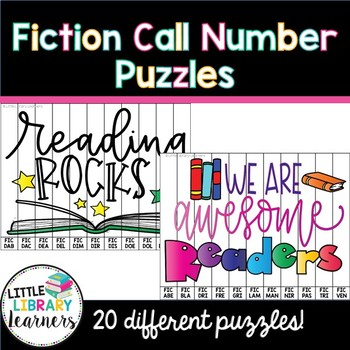 Library Fiction Call Number Puzzles