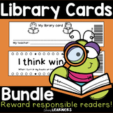Library Card Bundle for Kindergarten and Big Kids