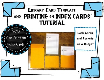 library card template how to print on index cards tutorial