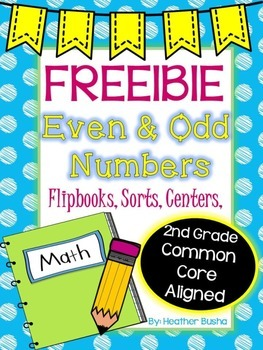 Even/Odd Numbers Freebie