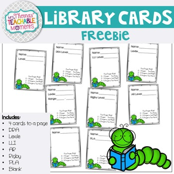 Library Cards FREEBIE!