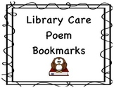 Library Care Bookmarks/Shelf Markers