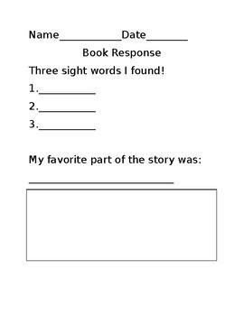 Library Center Response Sheet