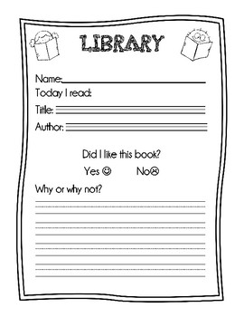 Library Center Worksheet