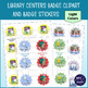Library Centers Badges Clipart and Printable Stickers