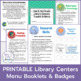 Library Centers Tracking Booklets & Learning Badges [PRINTABLE]
