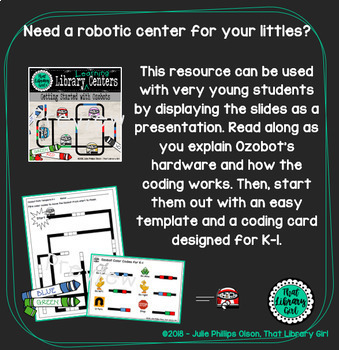 Library Centers - Ozobots (Robotics) with 10 Task Cards