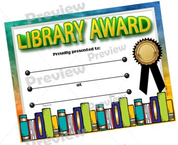 Library Certificates Set - {Fillable}