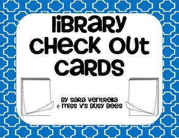 Library Check Out Cards - FREEBIE!