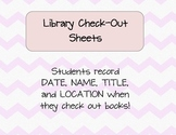 Library Check-Out Sheets- FREEBIE!