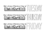 Library Checkout Day Bookmarks