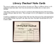 Library Checkout Note Cards
