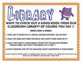 Library Checkout Poster