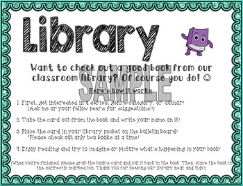 Library Checkout Poster - Version 2, Editable