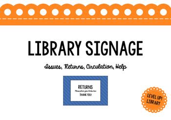 Library Circulation Desk Signage