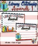 Library Citizenship Awards – {Fillable} 1