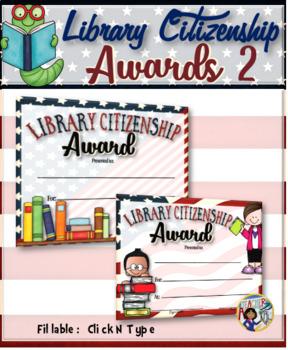 Library Citizenship Awards – {Fillable} 2