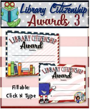Library Citizenship Awards – {Fillable} 3