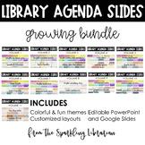 Library Class Agenda Slides | GROWING BUNDLE | PowerPoint