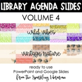 Library Class Agenda Slides | Google Slides and PowerPoint