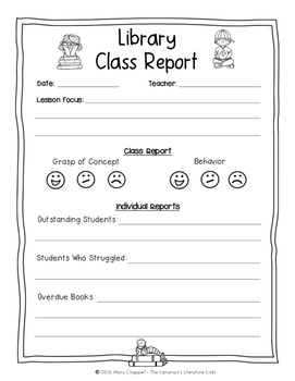Library Class Report FREEBIE