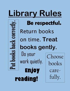 Library Class rules