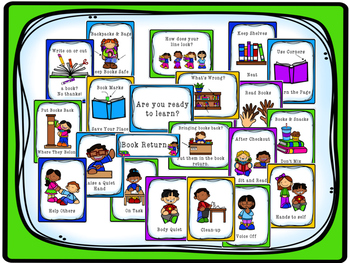 Library/Classroom Behavior and Book Care Posters