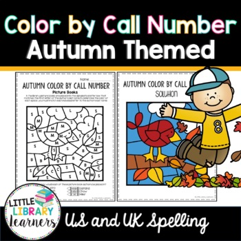 Library Color by Call Number- Autumn/ Fall Themed