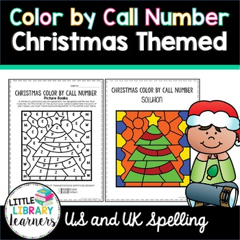Library Color by Call Number- Christmas Themed