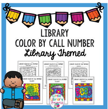 Library Color by Call Number- Library Themed