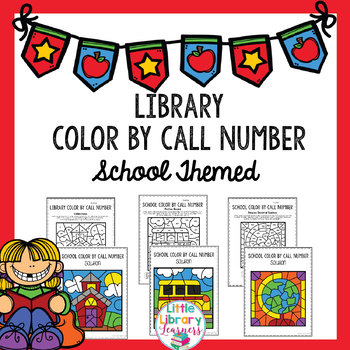 Library Color by Call Number- School Themed