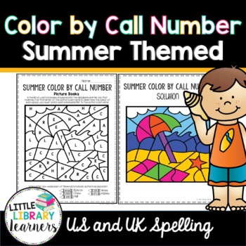 Library Color by Call Number- Summer Themed