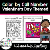 Library Color by Call Number- Valentine's Day Themed