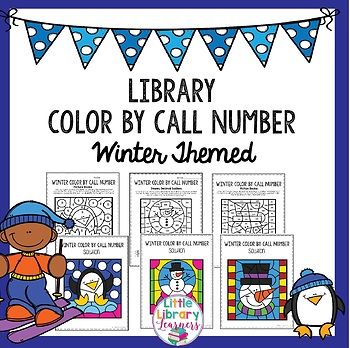 Library Color by Call Number- Winter Themed