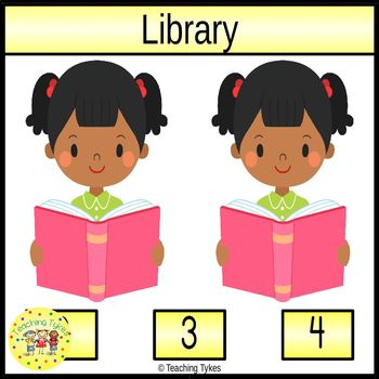 Library Count and Clip Task Cards