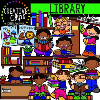 Library {Creative Clips Digital Clipart}
