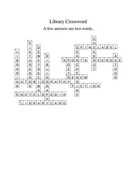 Library Crossword
