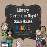 Library Curriculum Night/Open House/Back to School BUNDLE!