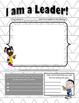 Library Data Notebook Activities- Elementary - Grades 1-5