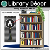 Library Decor | Library Shelf Labels | Banner | Signs | Na