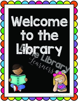 Library Decor Kit- Library Signs and Posters