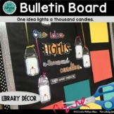 Library Decor | Library Bulletin Board | Mason Jar Bulleti