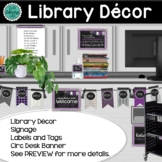 Library Decor | Library Shelf Labels | Bulletin Boards | B